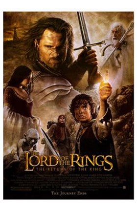 Framed Lord of the Rings: The Return of the King - style K Print