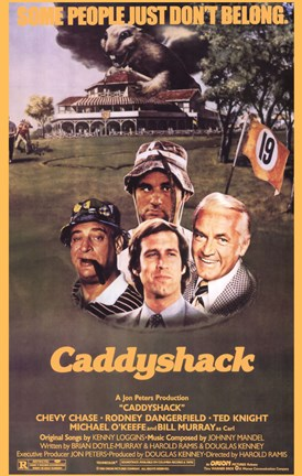 Framed Caddyshack - Some people just don't belong Print