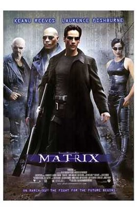 Framed Matrix - man in all black Print