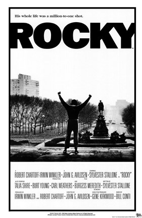 Framed Rocky Black and White Print