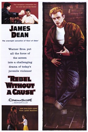Framed Rebel Without a Cause Multiple Shots Print
