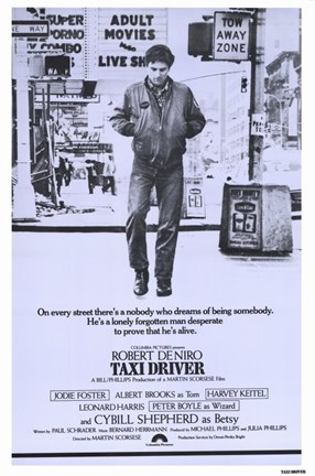 Framed Taxi Driver Purple Print