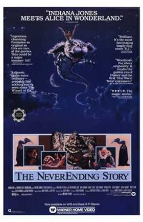 Framed Neverending Story - Atreyu Bastian Mr. Bux Print