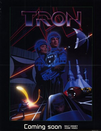 Framed Tron Outer Space Print