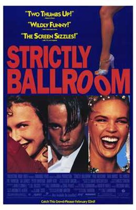 Framed Strictly Ballroom Dancing Print