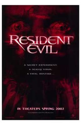 Framed Resident Evil - red Print