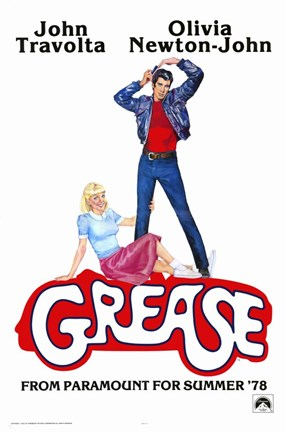 Framed Grease John Travolta Olivia Newton-John Print