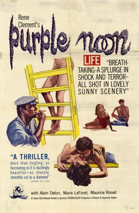 Framed Purple Noon Rene Clement Print