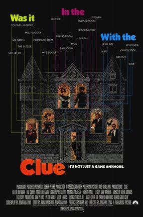 Framed Clue Christopher Lloyd Print