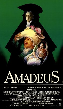Framed Amadeus Green with Cast Tall Print