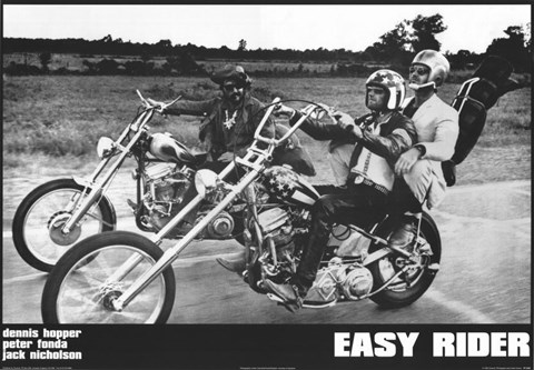 Framed Easy Rider Motorcycle Print