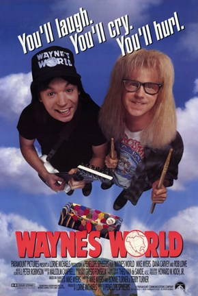 Framed Wayne's World Print