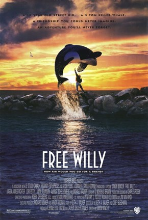 Framed Free Willy Print