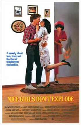 Framed Nice Girls Don't Explode Print