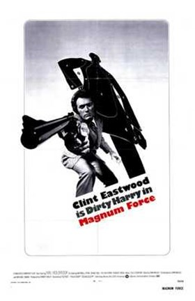 Framed Magnum Force - black and white Print