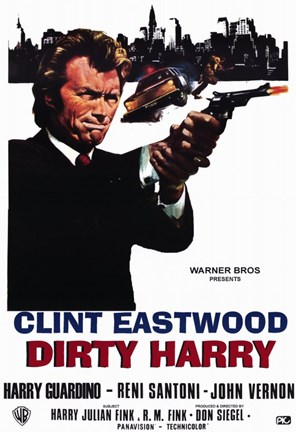 Framed Dirty Harry Clint Eastwood Print