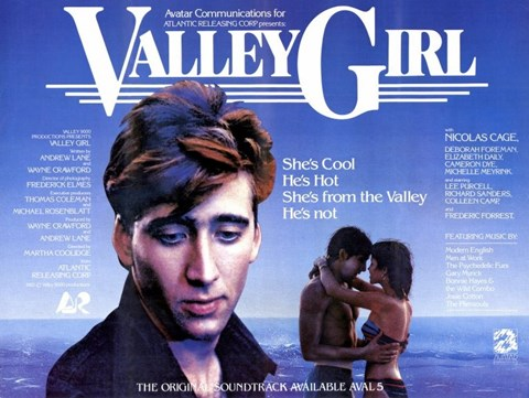 Framed Valley Girl Nicolas Cage Print