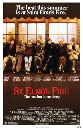 Framed St Elmo's Fire Print