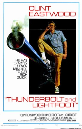 Framed Thunderbolt and Lightfoot Clint Eastwood Print