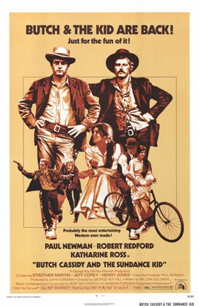 Framed Butch Cassidy and the Sundance Kid Beige Print