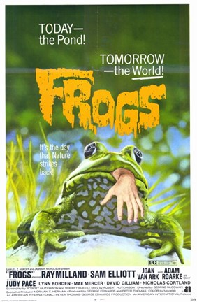 Framed Frogs - Today the pond! Print