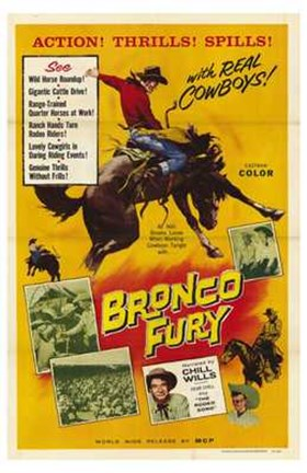 Framed Bronco Fury Print