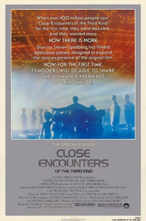 Framed Close Encounters of the Third Kind Aliens Print