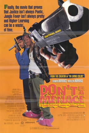 Framed Don't Be a Menace to South Central Wayans Brothers Print