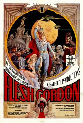 Framed Flesh Gordon Print