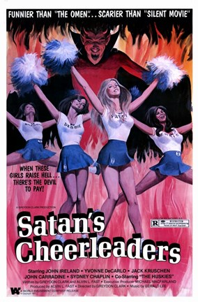 Framed Satan's Cheerleaders Print