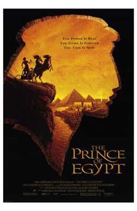 Framed Prince of Egypt Silhouette Pyramid Print