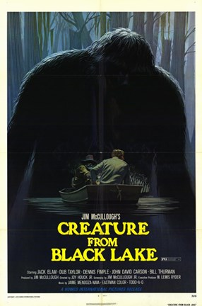 Framed Creature from Black Lake Print