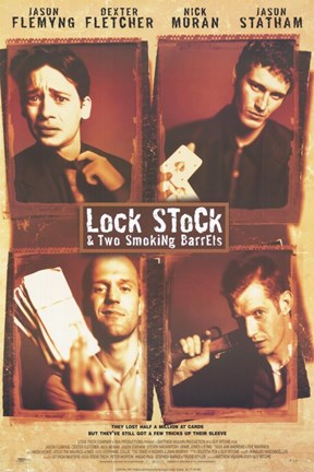 Framed Lock Stock and 2 Smoking Barrels Main Characters Print