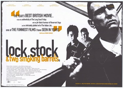 Framed Lock Stock and 2 Smoking Barrels British Film Print
