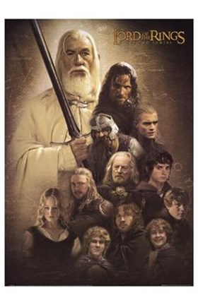 Framed Lord of the Rings: the Two Towers Cast Print