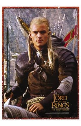 Framed Lord of the Rings: the Two Towers Legolas Screen Shot Print