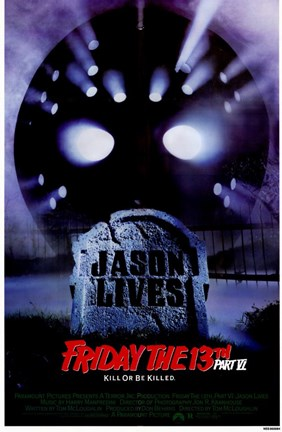 Framed Friday the 13Th Part 6 Jason Lives Print