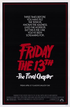 Framed Friday the 13Th Part 4 --The Final Chapter Film Print