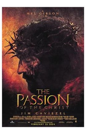 Framed Passion of the Christ - Man with thorns on his head Print