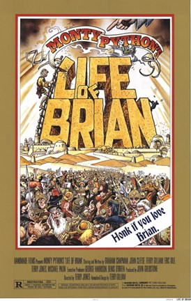 Framed Monty Python's Life of Brian Print