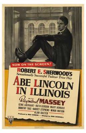 Framed Abe Lincoln in Illinois Print