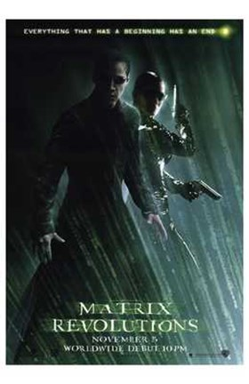 Framed Matrix Revolutions Neo & Trinity Print