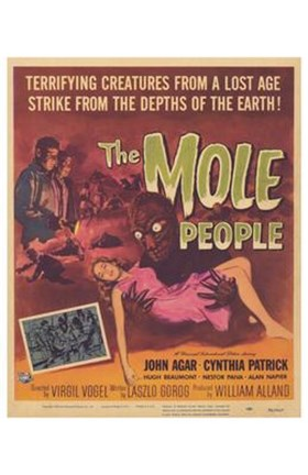 Framed Mole People Creatures From A Lost Age Print