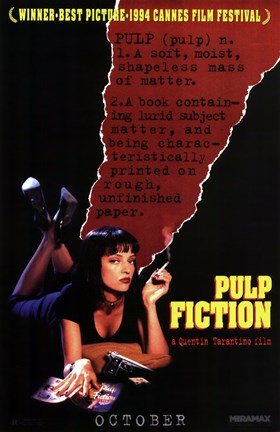 Framed Pulp Fiction Definition Print