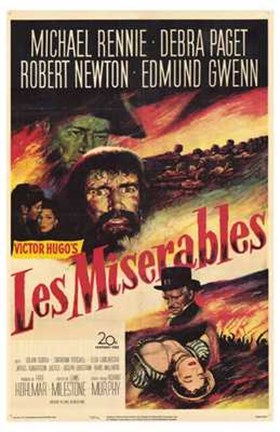 Framed Les Miserables Michael Rennie Print
