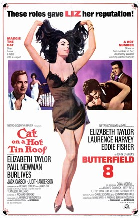 Framed Cat on a Hot Tin Roof-Butterfield 8 Print
