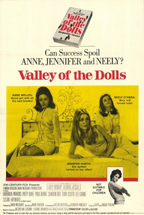 Framed Valley of the Dolls - yellow Print