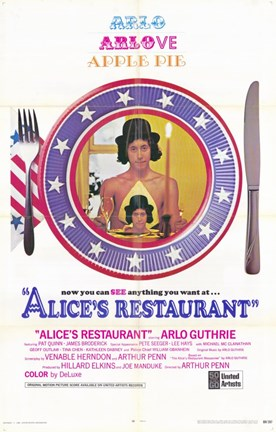 Framed Alice's Restaurant Print