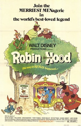 Framed Robin Hood Cartoon Print