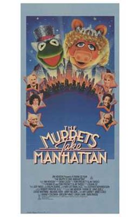 Framed Muppets Take Manhattan Print